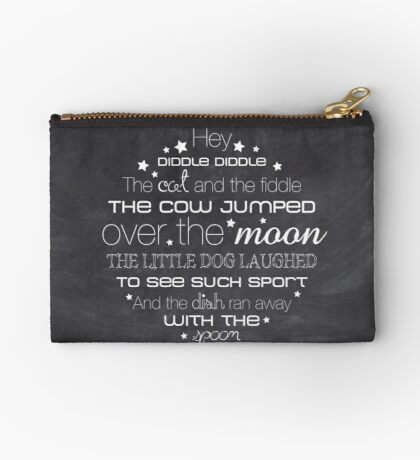 Hey Diddle Diddle – 2:3 – Chalkboard  Studio Pouch