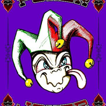 Poker Joker Jester Clown Fool Hand Drawn by DooodleGod