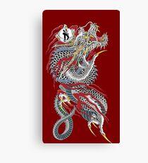 Yakuza Dragon Tattoo Canvas Print