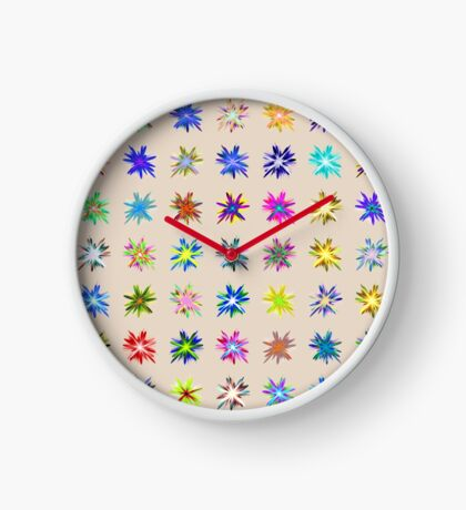 Flower blast structured chaos chaos #fractal art Clock