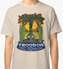 Retro Troodon in the Rushes (light-colored shirt) Classic T-Shirt