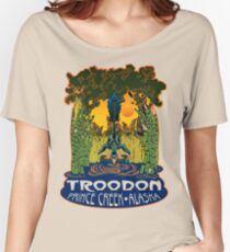 Retro Troodon in the Rushes (light-colored shirt) Women's Relaxed Fit T-Shirt