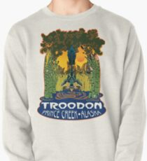 Retro Troodon in the Rushes (light-colored shirt) Pullover