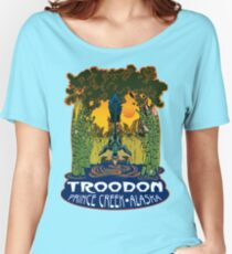 Retro Troodon in the Rushes (dark-colored shirt) Women's Relaxed Fit T-Shirt