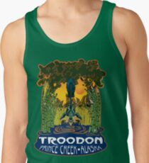Retro Troodon in the Rushes (dark-colored shirt) Tank Top