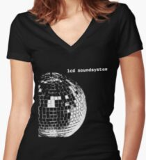 LCD Soundsystem Logo Women's Fitted V-Neck T-Shirt