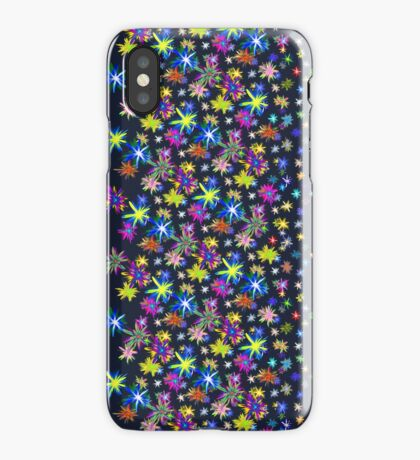Flower blast structured chaos in stratosphere #fractal art iPhone Case