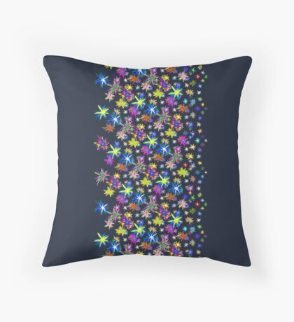 Flower blast structured chaos in stratosphere #fractal art Throw Pillow