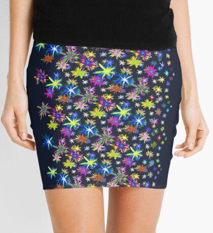 Flower blast structured chaos in stratosphere #fractal art Mini Skirt