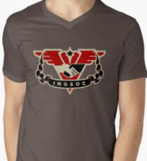 1984 INGSOC Emblem Men's V-Neck T-Shirt
