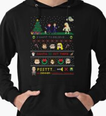 The X-Files Christmas - Santa is Out There Lightweight Hoodie