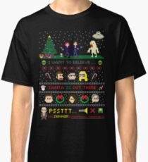 The X-Files Christmas - Santa is Out There Classic T-Shirt