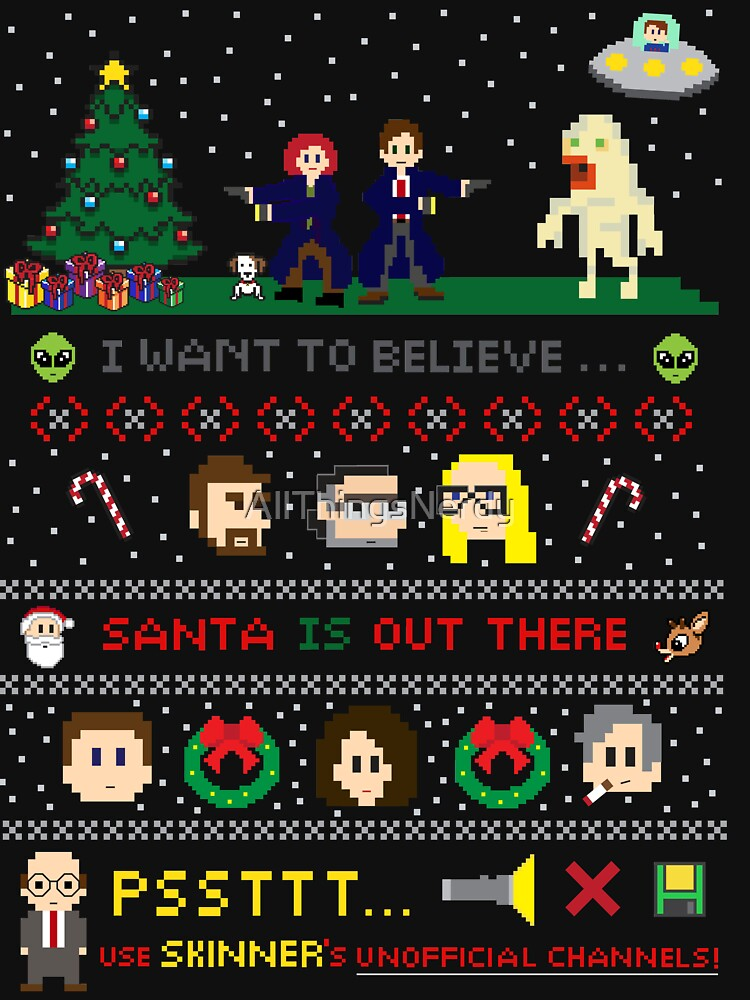 The X-Files Christmas - Santa is Out There by AllThingsNerdy