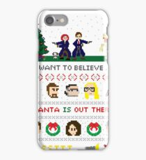 The X-Files Christmas - Santa is Out There iPhone Case/Skin