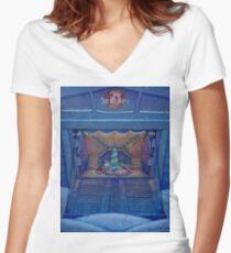 Firefly Christmas on Serenity Women's Fitted V-Neck T-Shirt