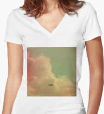 Once Upon a Time a Little Boat Women's Fitted V-Neck T-Shirt