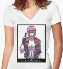 The Major (Ghost in the Shell) Women's Fitted V-Neck T-Shirt