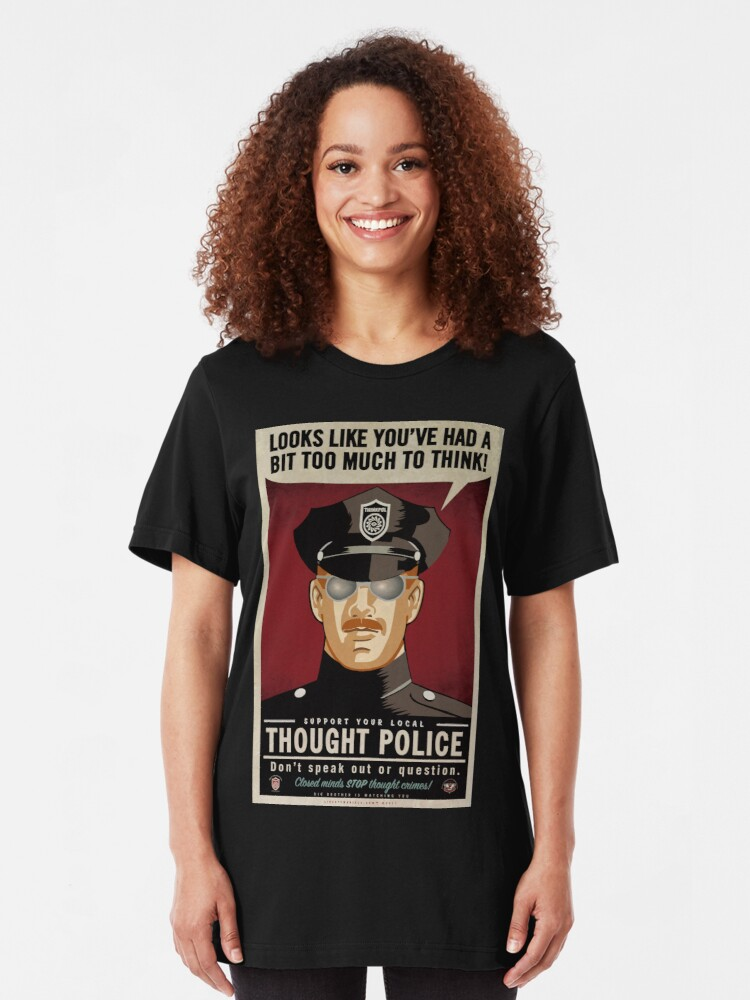 Alternate view of Thought Police Slim Fit T-Shirt