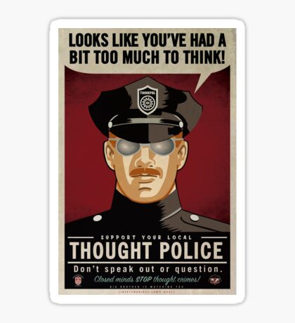 Thought Police Sticker