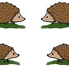 Hedgehog stickers by tanaudel