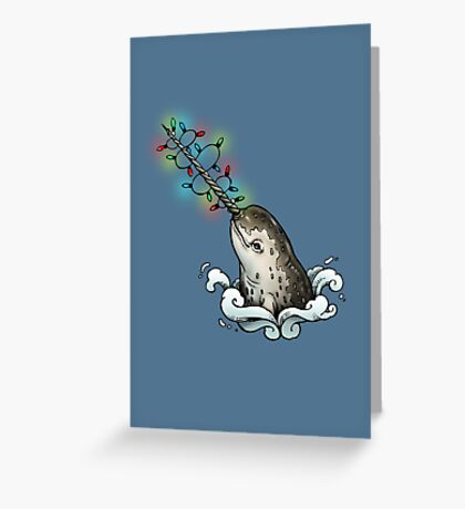 Christmas narwhal Greeting Card