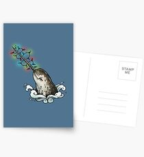 Christmas narwhal Postcards