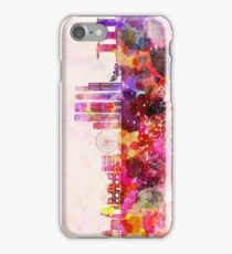 Singapore V2 skyline in watercolor background iPhone Case/Skin