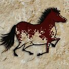 Cave Art Horse - Painted Mustang by Jan Szymczuk