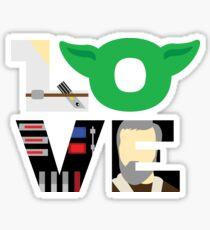 Star Wars Love Typography Sticker