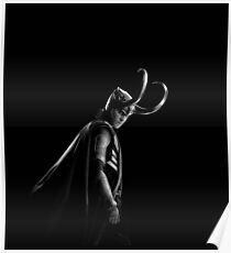Loki black&white Poster