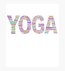 Yoga Workout Word Cloud Photographic Print