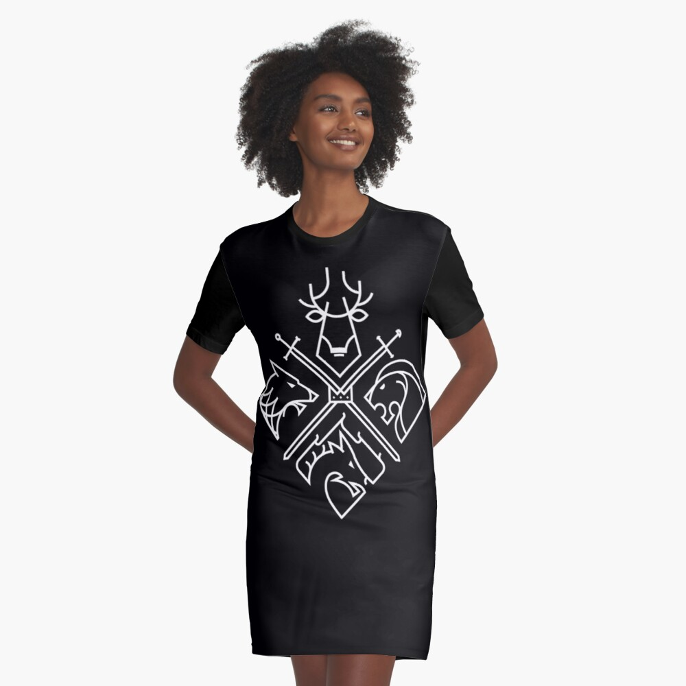 Liberate or Die Graphic T-Shirt Dress Front