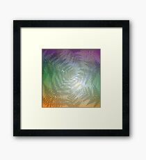Peaceful fern abstract. Framed Print