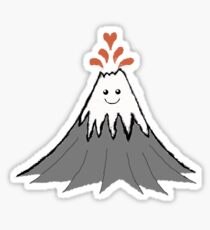 Cute Volcano Sticker
