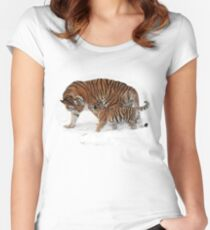 Tigers Tee & Hoodie Women's Fitted Scoop T-Shirt