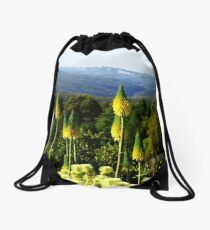 Kniphofia - Blue Mountains Botanic Gardens Drawstring Bag