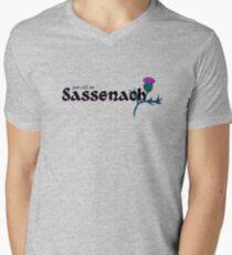 Sassenach Camiseta para hombre de cuello en v