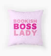 Bookish boss lady Throw Pillow