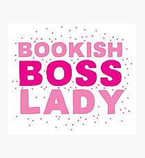 Bookish boss lady Photographic Print