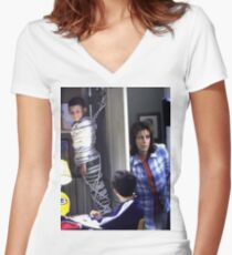 Malcolm in the Middle Lois loses her touch Women's Fitted V-Neck T-Shirt