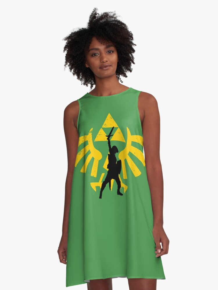 The power of three (Legend of Zelda) A-Line Dress Front