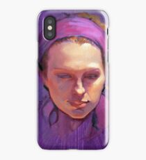Portrait of Phoebe : Oil Painting iPhone Case/Skin