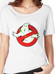 Who Busts The Ghost Busters? (logo) v3 Women's Relaxed Fit T-Shirt