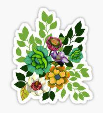 Flower Bouquet Print Sticker