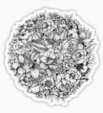Floral Flower circle  Sticker