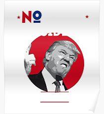 not my president trump red foto gegen  Poster