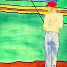 Fishin' by Maryann Harvey