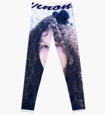 Vinylone and the Girl with fabulous smile, curls and cute eyes made by Blunder Leggings