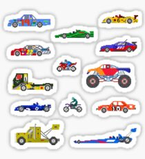 Sports Vehicles - The Kids' Picture Show - Pixel Art Sticker