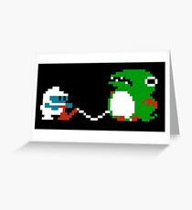 Dig Dug Greeting Card